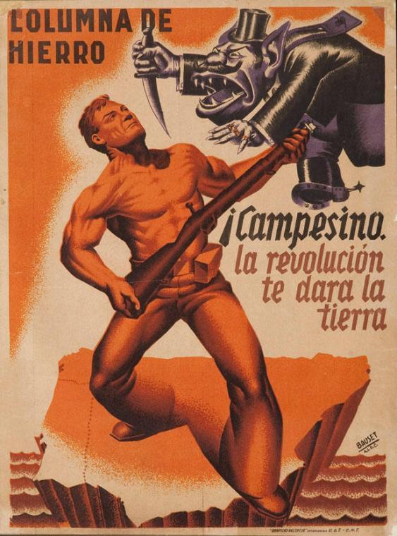 Columna de Hierro - Campesino! La revolución te dara la tierra