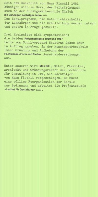 Geschichte Der Kunstgewerbeschule 1961   1978