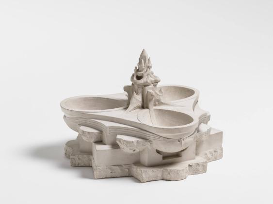 Modell zu einem Dreischalenbrunnen