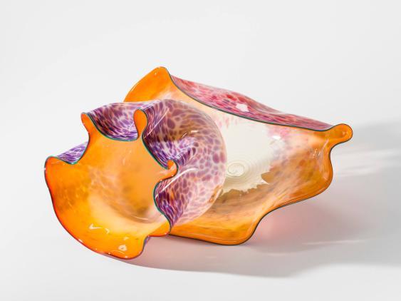 Orange and Mauve Macchia Pair