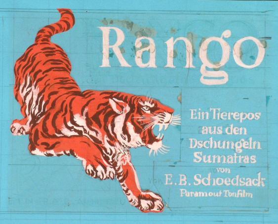 Rango - Ein Tierepos aus den Dschungeln Sumatras von E.B. Schoedsack - Paramount Tonfilm