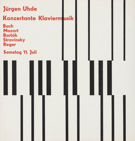 Jürgen Uhde - Konzertante Klaviermusik - Bach - Mozart - Bartok - Stravinsky - Reger