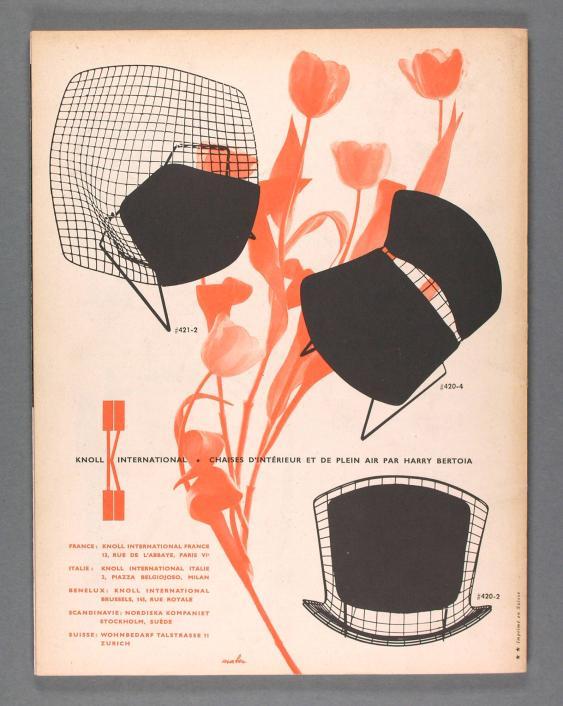 Knoll International - Chaises d'Intérieur et de plein air par Harry Bertoia