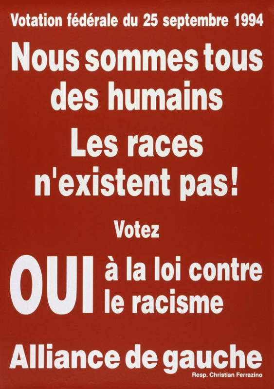 best authentic f8148 a39d9 Nous sommes tous des humains - Les races n existent pas! Votez oui à