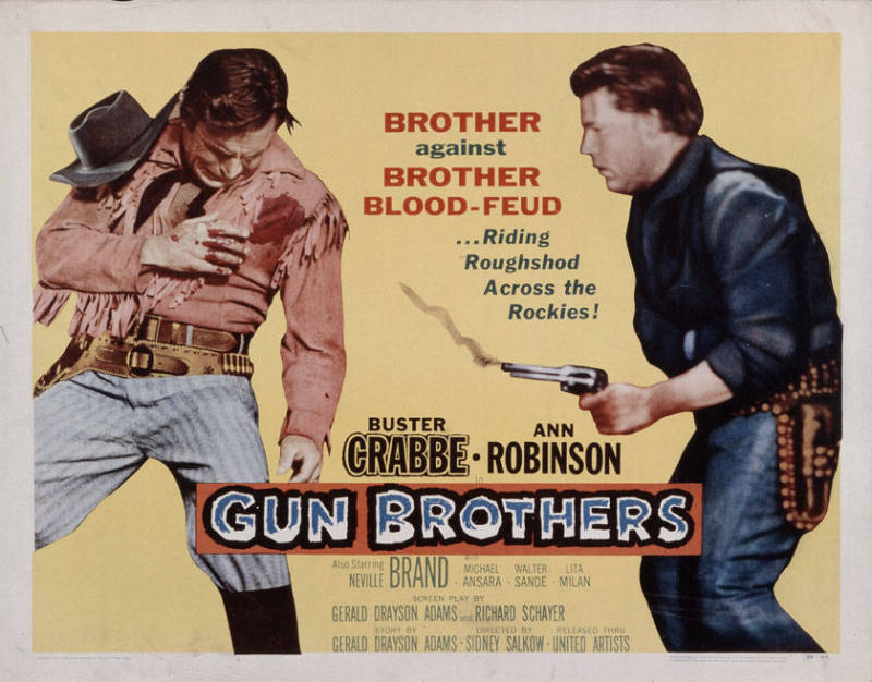 Brother Against Brother Blood Feud... Riding Roughshod Across The Rockies    Buster