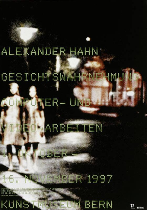 055a353a721ca Alexander Hahn - Gesichtswahrnehmung - Computer- und - Video-Arbeiten- K  unstmuseum Bern